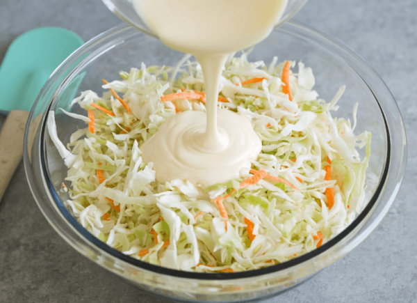 Add Slaw to dressing