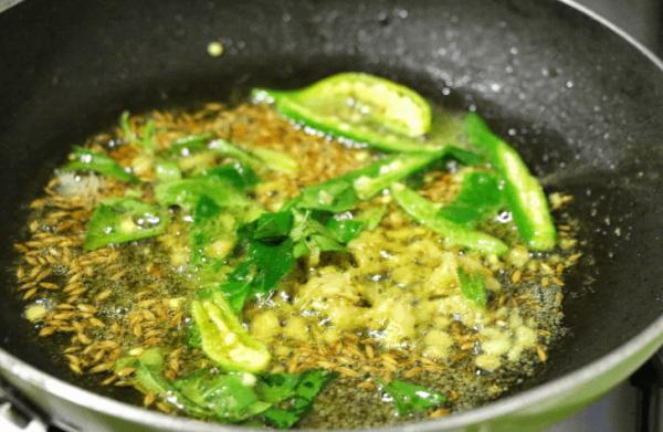 Fry Methi, Green chili