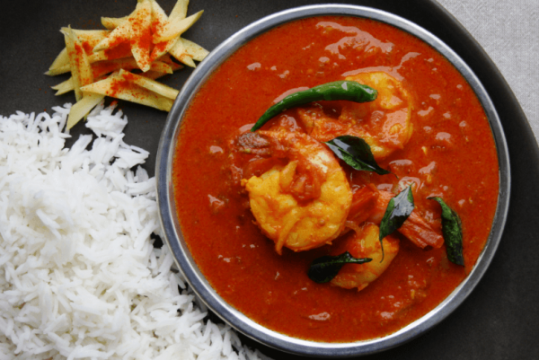 Konkani Fish with Rice