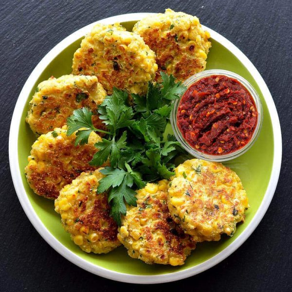 Corn Fritters ready
