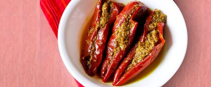 Stuffed Red Chili Pickle
