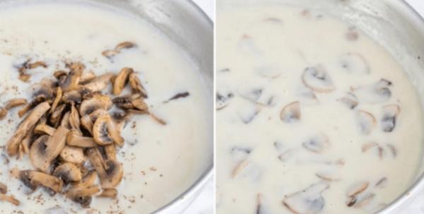 add mushroom to roux